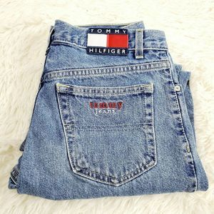 Vtg Tommy Jeans Womens  Spell Out Flag Sz 9/30